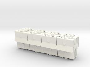 Han in Carbonite Greeblies - Clips in White Processed Versatile Plastic