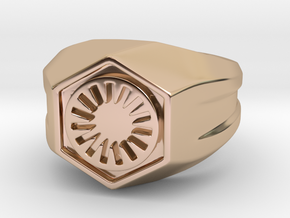 First Order Signet Ring (Size 10 1/4 - 20 mm) in 14k Rose Gold Plated Brass
