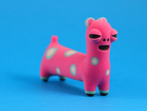Spotted Pink Animal in Full Color Sandstone