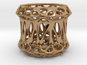 Candle Holder 3cm (002) in Polished Brass