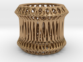 Candle Holder 3cm (005) in Polished Brass