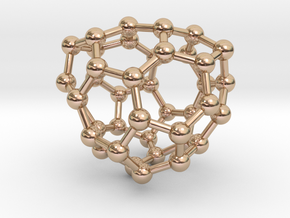 0133 Fullerene C40-27 c2 in 14k Rose Gold Plated Brass