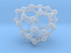 0133 Fullerene C40-27 c2 in Smooth Fine Detail Plastic