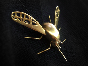 Bee Fly Pendant in Natural Bronze