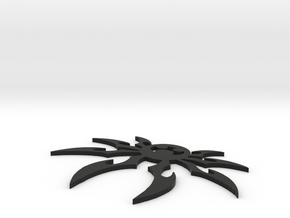 Spider Keychain in Black Natural Versatile Plastic