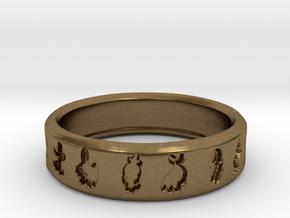 PokemonRing - Size 7 Test in Natural Bronze