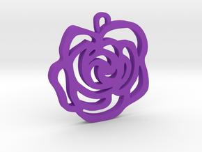 Rose Pendant in Purple Processed Versatile Plastic
