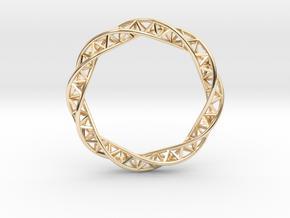 Triple Helix Bracelet (63 mm) in 14k Gold Plated Brass