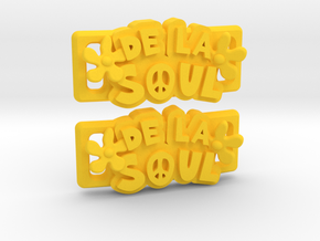 """De La Soul"" Lacelocks (1 pair) in Yellow Strong & Flexible Polished"
