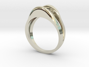 Holy Solitaire Round Semi Mount in 14k White Gold