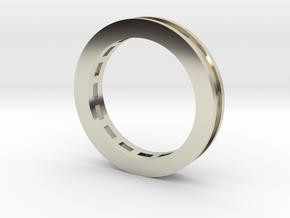 Baguette Semi Mount Ring in 14k White Gold