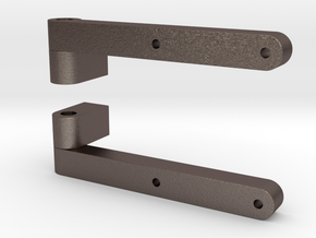 Smokebox Hinges in Polished Bronzed Silver Steel
