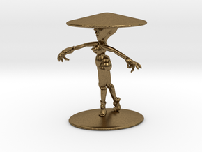 Girl With Hat 3'' in Natural Bronze