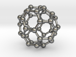 0149 Fullerene C40-37 c2v in Fine Detail Polished Silver