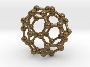 0149 Fullerene C40-37 c2v in Natural Bronze