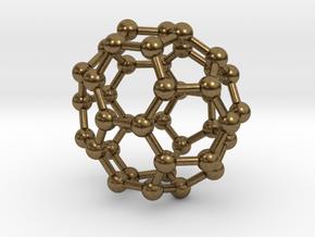 0149 Fullerene C40-37 c2v in Natural Bronze