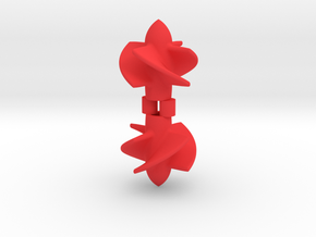 10mm Impeller V2 in Red Processed Versatile Plastic