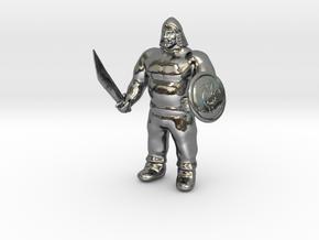 Ogre Warrior in Fine Detail Polished Silver
