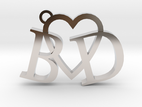 B love D (Key chain - Pendant) in Platinum