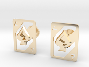 AceOfSpades cufflinks in 14k Gold Plated Brass