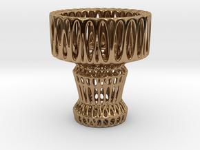 Tea Light Holder in Polished Brass