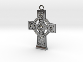 Celticcross1 Necklace in Fine Detail Polished Silver
