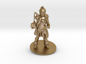 Chris M. As Warrior Girl in Polished Gold Steel