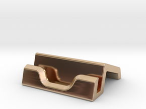 iPad Stand V1 in 14k Rose Gold Plated Brass