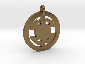 Turtle Pendant in Polished Bronze