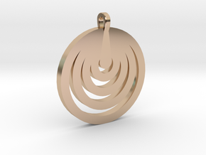 Moon Circles Pendant in 14k Rose Gold Plated Brass