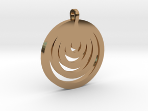 Moon Circles Pendant in Polished Brass