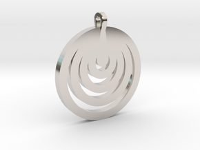 Moon Circles Pendant in Rhodium Plated Brass