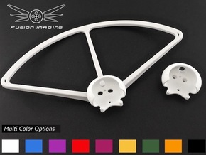4x. DJI Phantom Prop Guard Connector (V4) in White Processed Versatile Plastic