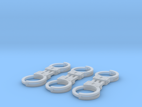 1/8 scale m2 Handcuffs in Smooth Fine Detail Plastic