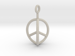 3D Peace Mark in Natural Sandstone