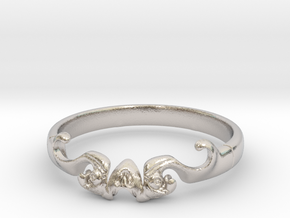 Skull of ring(reboot)(size = USA 5.5)  in Rhodium Plated Brass
