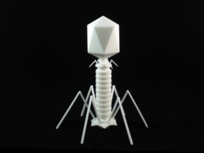 Virus Figurine in White Strong & Flexible