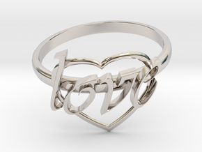 Ring Of Love in Platinum