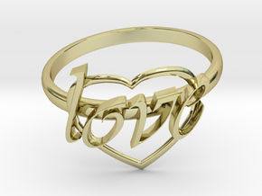 Ring Of Love in 18K Gold Plated