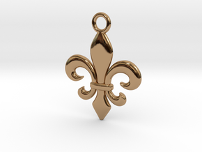 Fleur de lis Pendant in Polished Brass