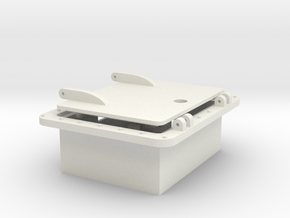 inset box with access hatch in White Natural Versatile Plastic