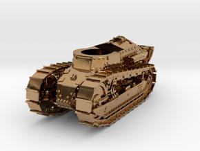 28mm M1917 Six Ton Tank (Hull) in Polished Brass