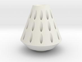 Rocket Nose Cone in White Natural Versatile Plastic