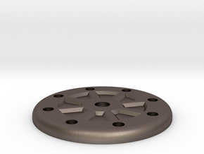 Ultra High Strength Wheel Hub Plate in Polished Bronzed Silver Steel