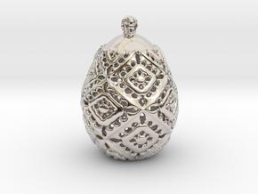 PA PFabergeV1fSE561xD24x30 in Rhodium Plated Brass