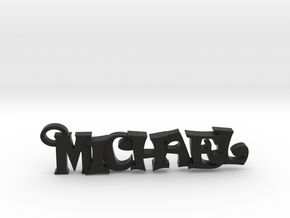 Michael Keychain (Pendant) in Black Natural Versatile Plastic