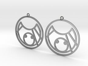 KC - Earrings - Series 1 in Fine Detail Polished Silver