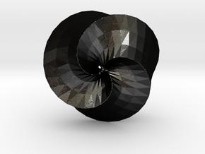 Mobius in Matte Black Steel
