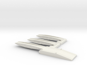 1/700 Shore Ramp + 2 Off Bridges in White Strong & Flexible