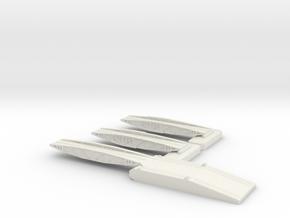 1/700 Shore Ramp + 2 Off Bridges in White Natural Versatile Plastic